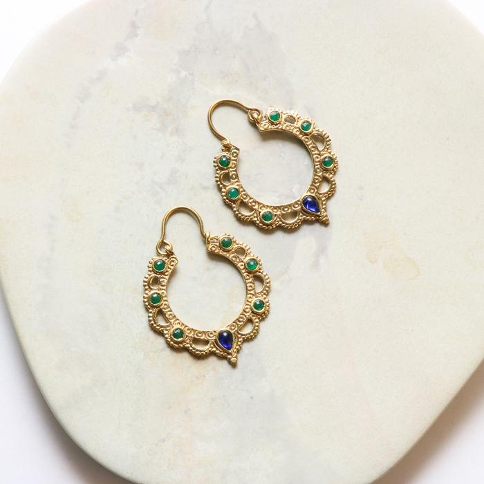 Beaded jali cut earrings | TradeAid