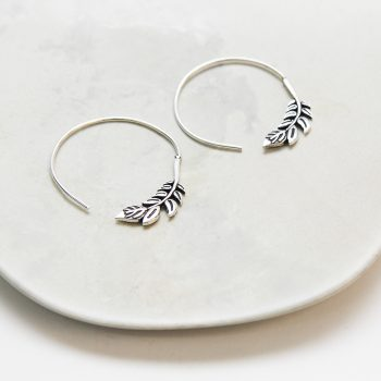Leaf hoop earrings   TradeAid