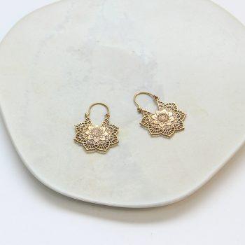 Filigree floral hoop earrings | TradeAid