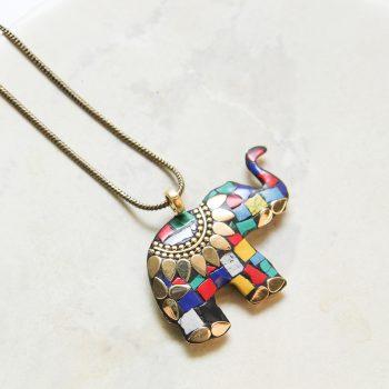 Mosaic elephant necklace | Gallery 1 | TradeAid
