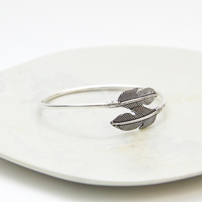 Bangle with leaf ends | TradeAid