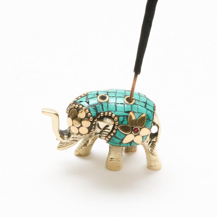 Mosaic elephant incense holder   Gallery 1   TradeAid