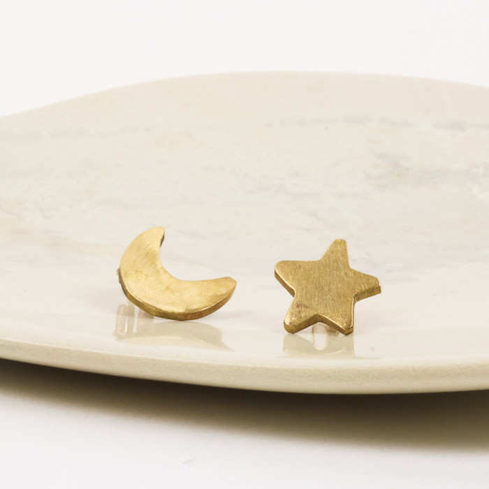 Moon and star studs   Gallery 1   TradeAid