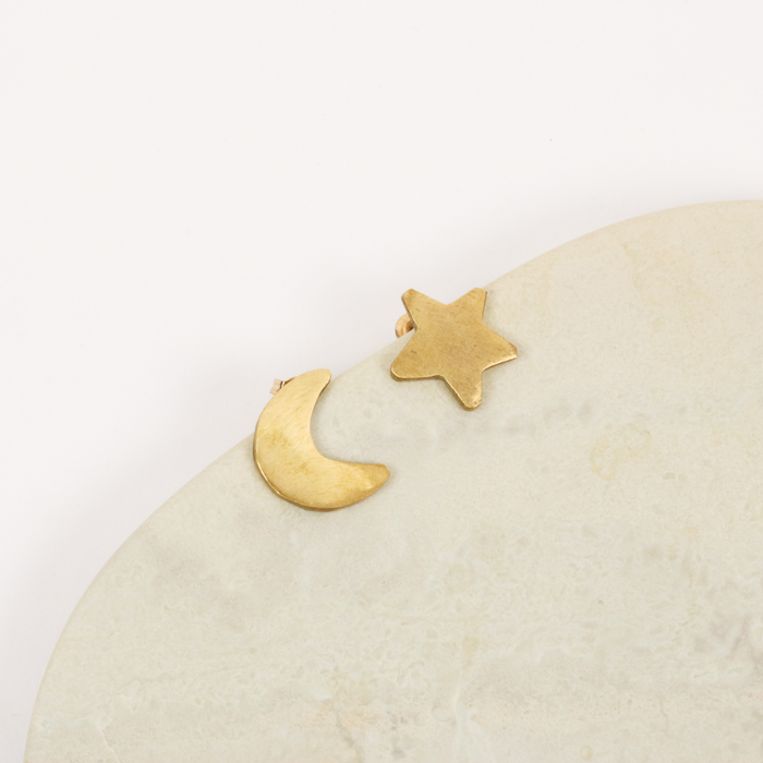 Moon and star studs   Gallery 2   TradeAid