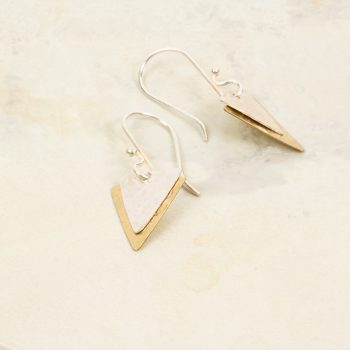 Two tone triangle earrings | TradeAid