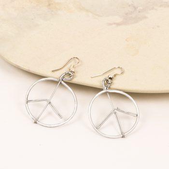 Peace sign earrings | TradeAid
