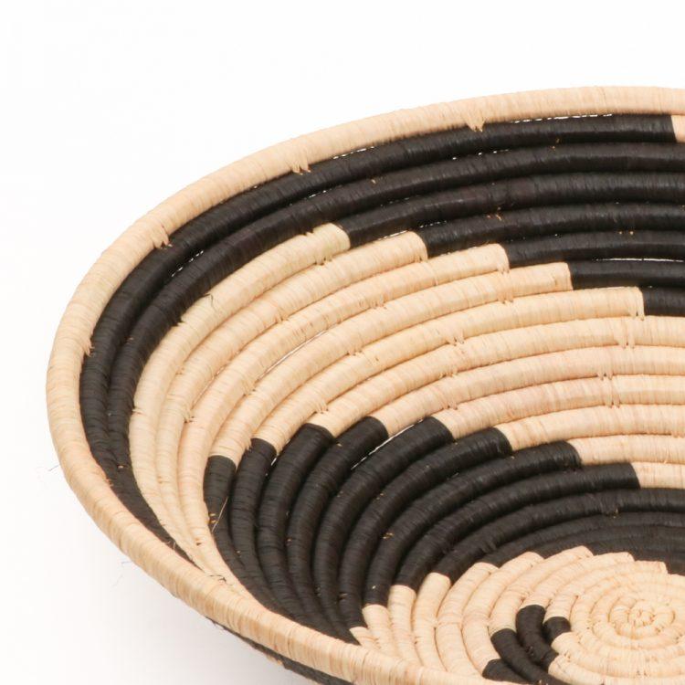 Black swirl woven bowl   Gallery 2   TradeAid