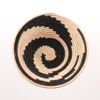 Black swirl woven bowl | Gallery 1 | TradeAid
