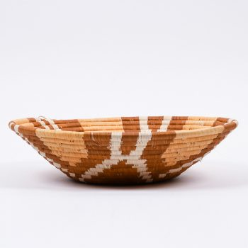 Woven bowl with tan flower design | Gallery 2 | TradeAid