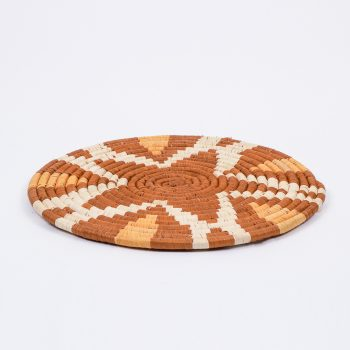 Tan flower placemat | TradeAid