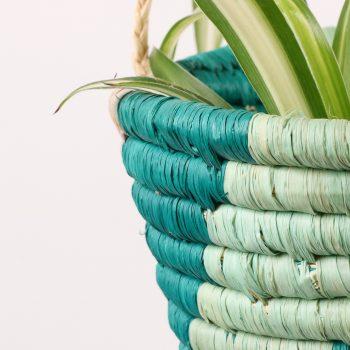 Teal hanging basket | Gallery 1 | TradeAid