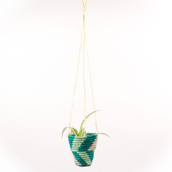Teal hanging basket | Gallery 2 | TradeAid