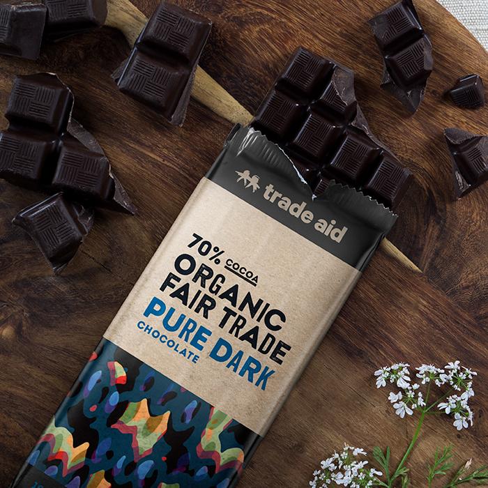 Organic 70% pure dark chocolate – 100g | Gallery 1 | TradeAid