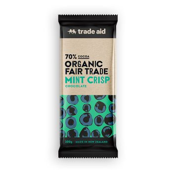 Organic 70% mint crisp chocolate – 100g | TradeAid