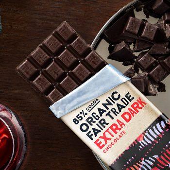 Organic 85% extra dark chocolate – 100g | Gallery 1 | TradeAid