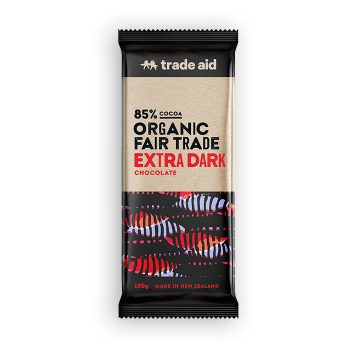 Organic 85% extra dark chocolate – 100g | TradeAid