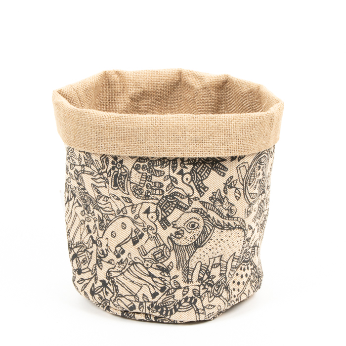 Reversible animal print basket | TradeAid