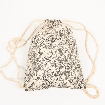 Animal print drawstring bag | TradeAid