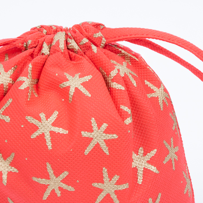 Large red star print gift bag | Gallery 1 | TradeAid