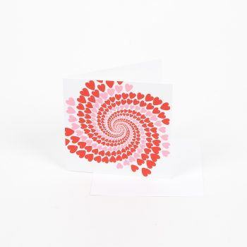 Pink and red hearts swirl card | TradeAid