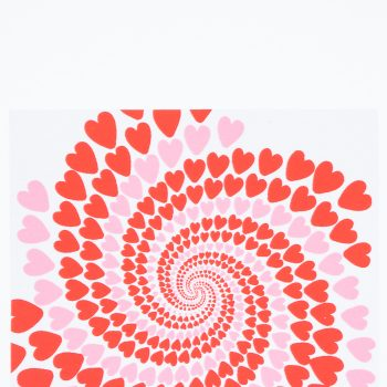 Pink and red hearts swirl card | Gallery 1 | TradeAid