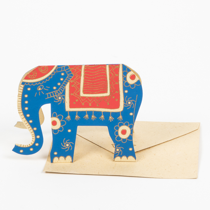 Elephant cut-out card | TradeAid