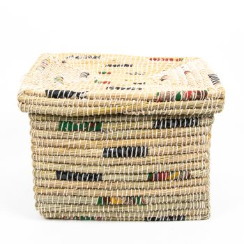 Kaisa and recycled fabric rectangular basket | Gallery 2 | TradeAid