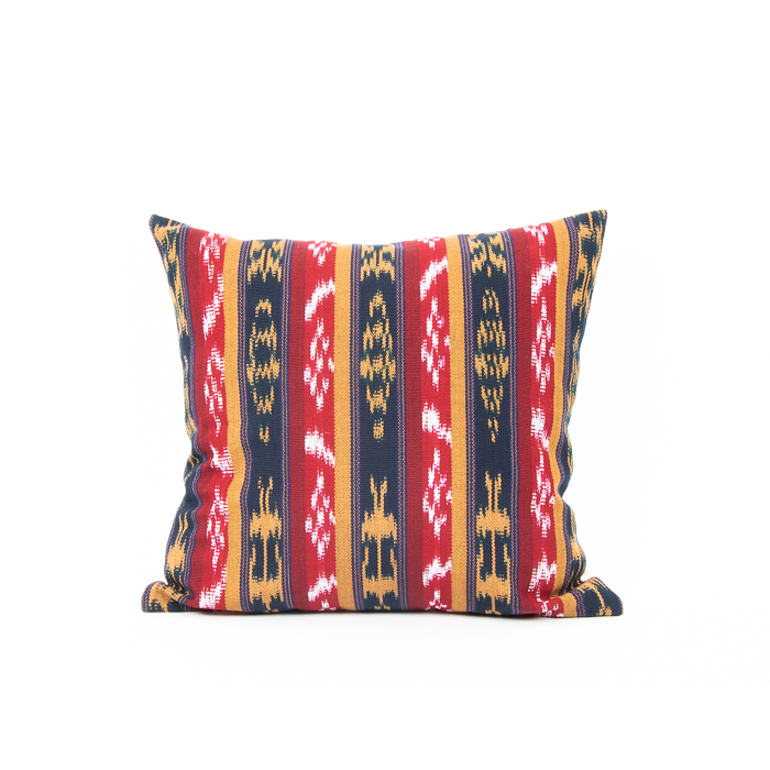 Red, blue and mustard cotton cushion cover | TradeAid