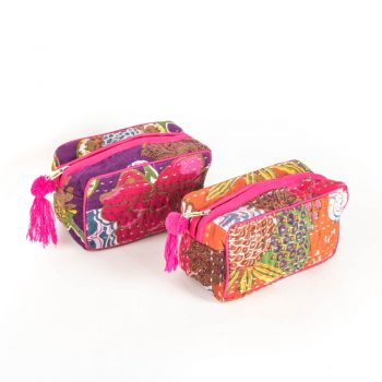 Kantha work toiletry bag | TradeAid