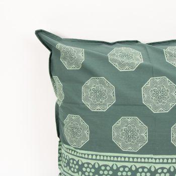 European pillowcase with green octagonal motif   Gallery 1   TradeAid