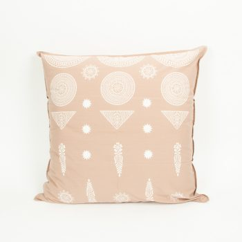 European pillowcase with sun motif block print | TradeAid