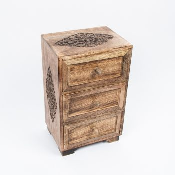 Mango wood chest with three drawers | TradeAid