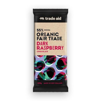 Organic 55% dark raspberry chocolate – 100g | TradeAid
