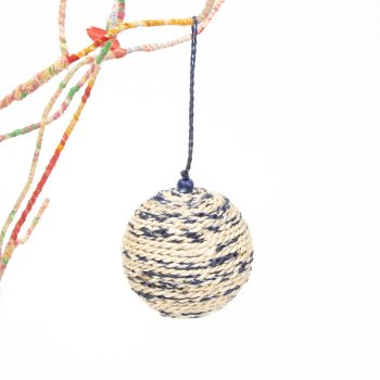 Blue and natural bauble | TradeAid