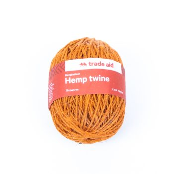 Burnt orange hemp twine | TradeAid