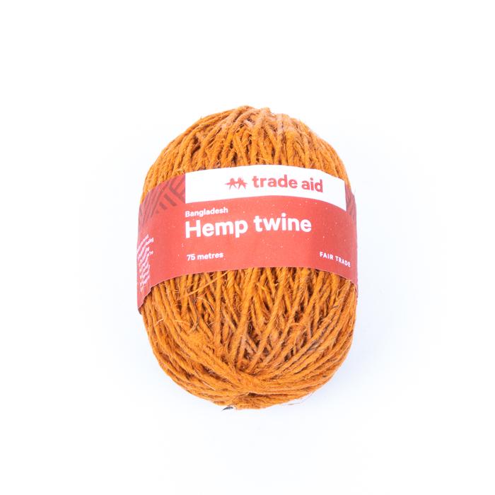 Burnt orange hemp twine | TradeAid