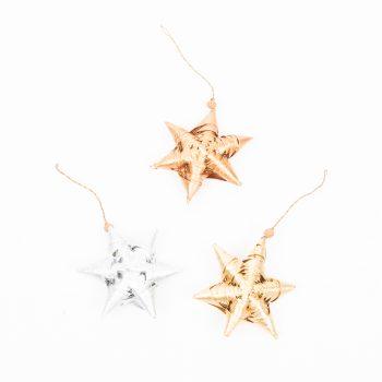 Coconut leaf star hanging decoration   TradeAid