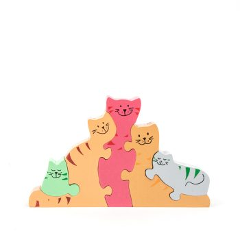 Cat family puzzle | TradeAid
