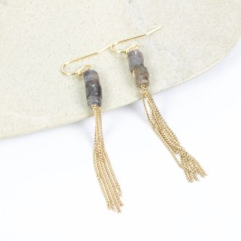 Chain earrings with stone beads | Gallery 1 | TradeAid