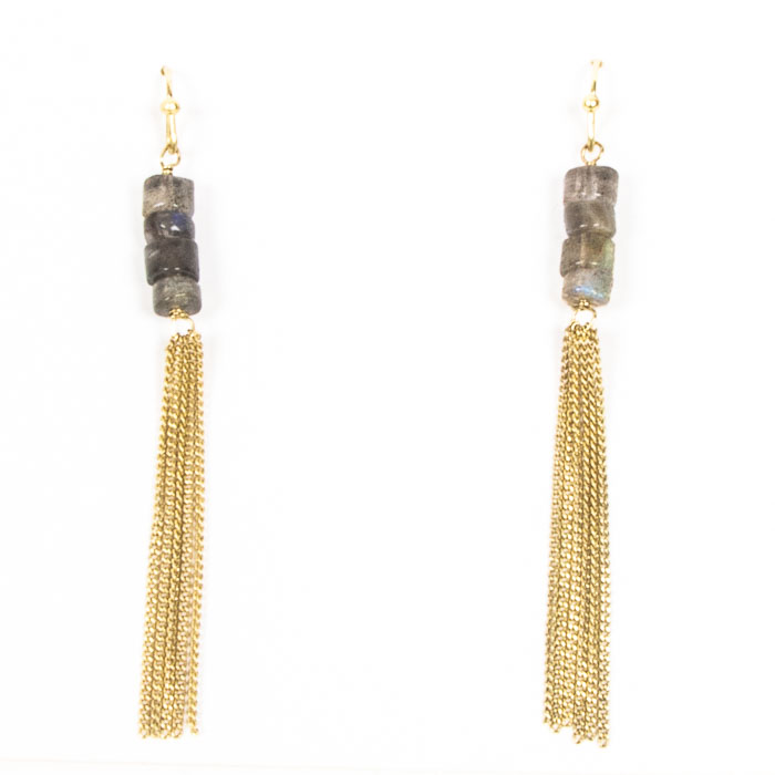 Chain earrings with stone beads | Gallery 2 | TradeAid