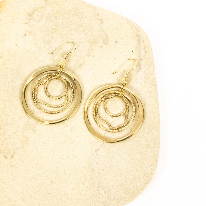 Brass rings earrings | Gallery 1 | TradeAid
