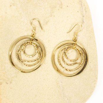 Brass rings earrings | TradeAid