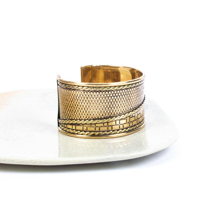 Engraved brass cuff | Gallery 1 | TradeAid