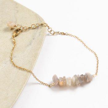 Uncut stone bead bracelet | TradeAid