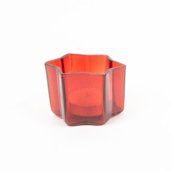 Red glass star shape tealight votive | Gallery 2 | TradeAid
