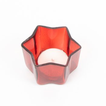 Red glass star shape tealight votive | Gallery 1 | TradeAid