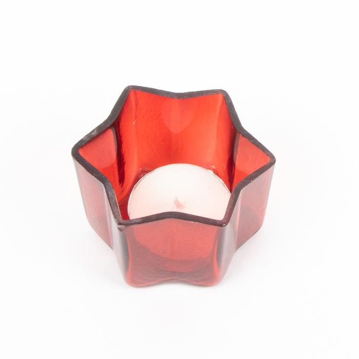 Red glass star votive | Gallery 1 | TradeAid