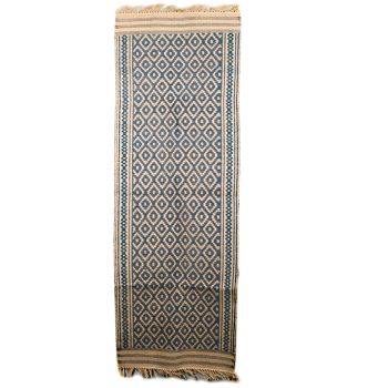 Blue diamond jute runner | TradeAid