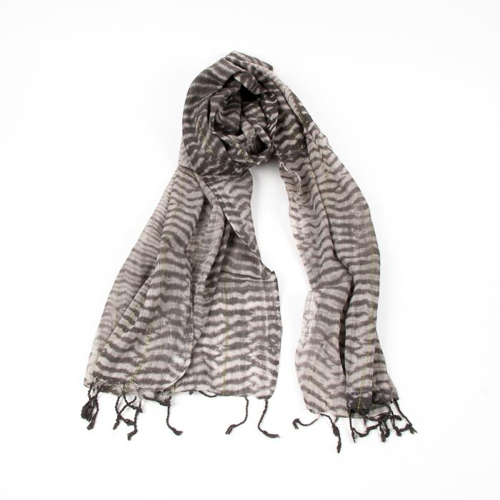 Shibori scarf with kantha stitching | TradeAid