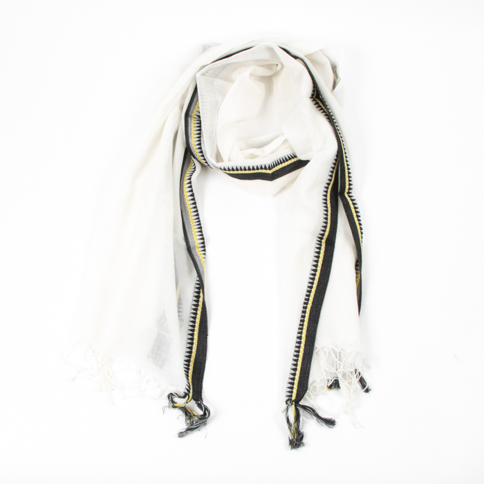 Cotton scarf with temple border | TradeAid